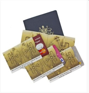 RFID Blocking Passport & 3 Credit Card Sleeves